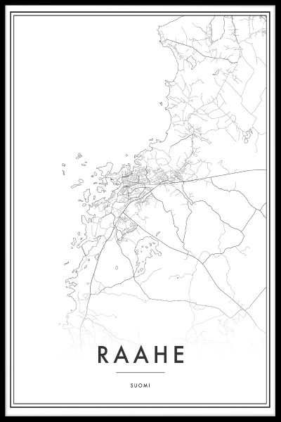 Raahe Map Poster